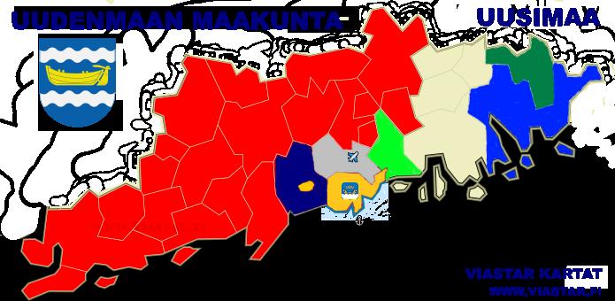 Kartta Uusimaa