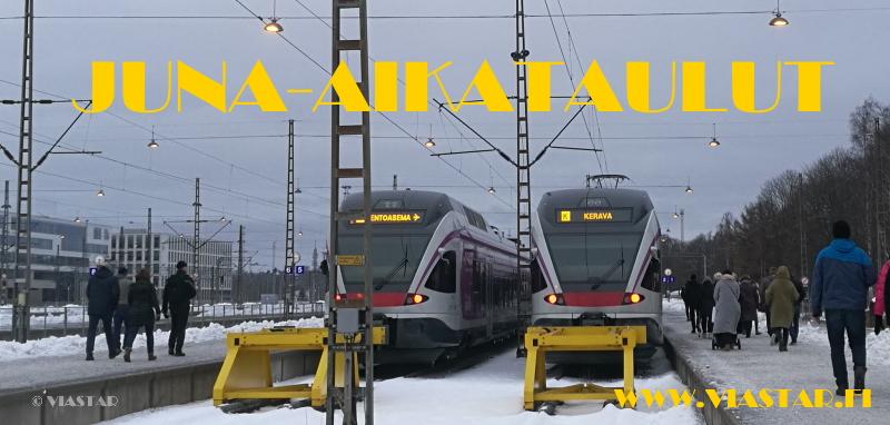 Juna, aikataulut, junat aikataulut